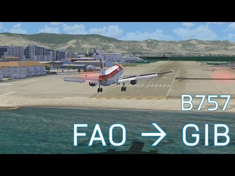 FSX Faro to Gibraltar | Boeing 757 | Revive Information!