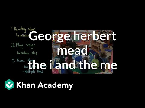 George Herbert Mead- The I and the Me | Individuals and Society | MCAT | Khan Academy