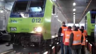 BLS Re 485 012 abfahrt von Depot Spiez