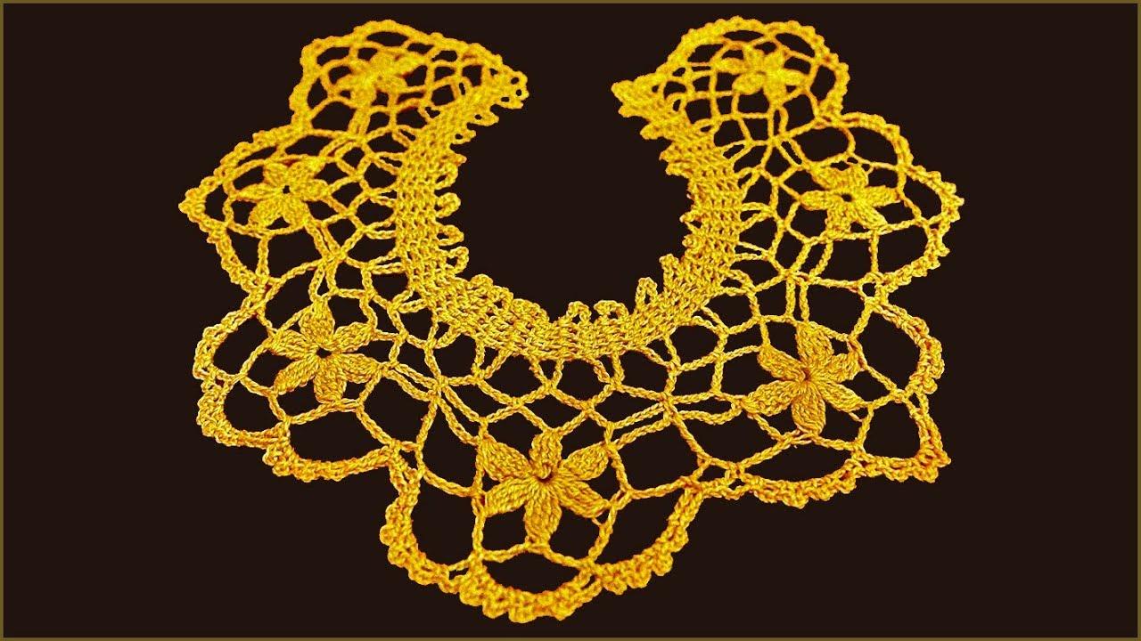 воротник крючком вязание воротника кружевной воротник вязание