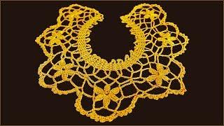 Воротник крючком. Вязание воротника. Кружевной воротник. (Crochet Collar)