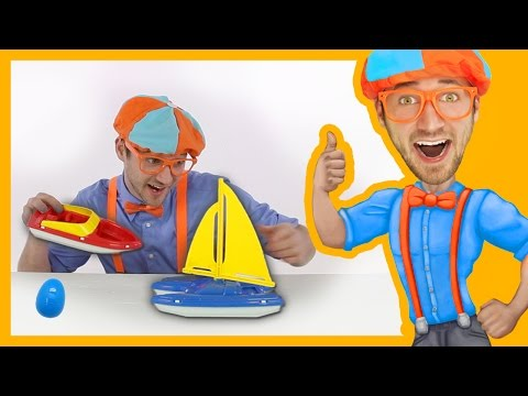 Thumbnail: Learn Colors for Toddlers with Blippi Toys | BOATS!