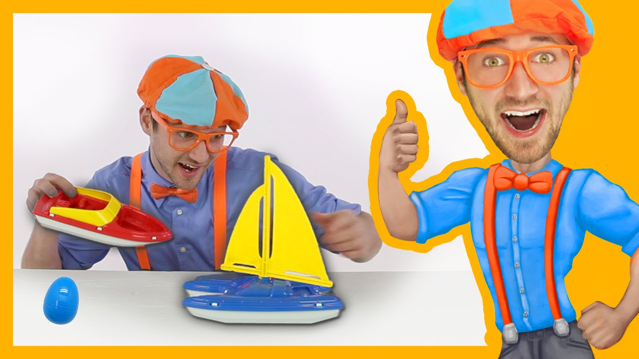 Learn Colors for Toddlers with Blippi Toys | BOATS!