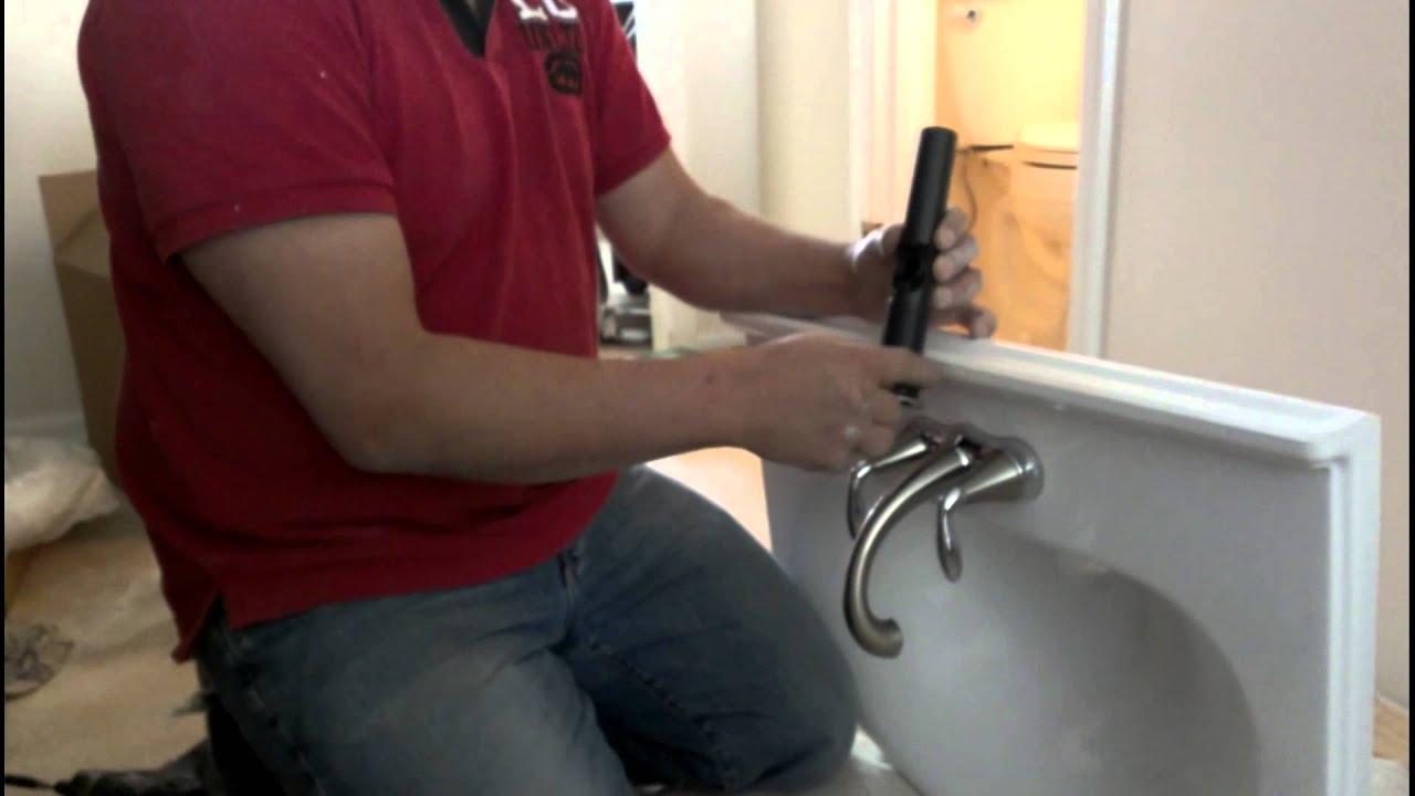 Como instalar un lavamanos youtube for Lavamanos sin instalacion