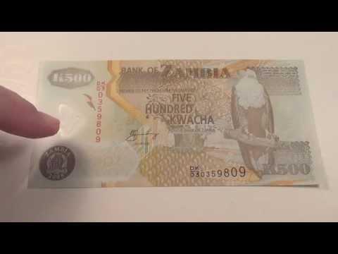 2008 Five Hundred Kwacha note from Zambia