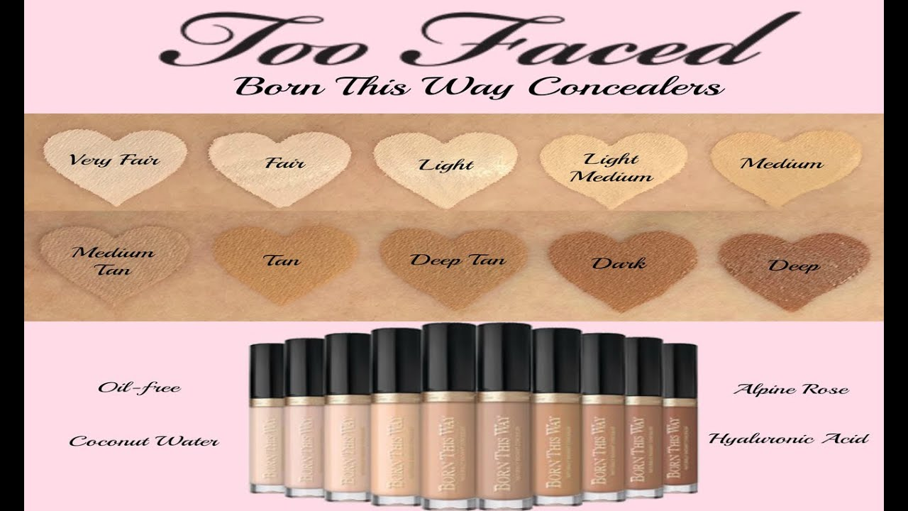new too faced born this way concealers youtube