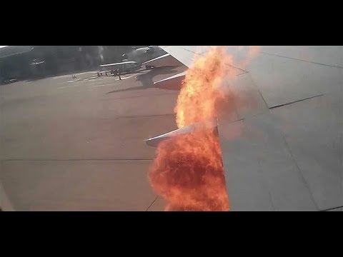 Airplane Engine On Fire