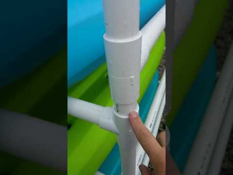 Homemade Kayak Storage Rack PVC