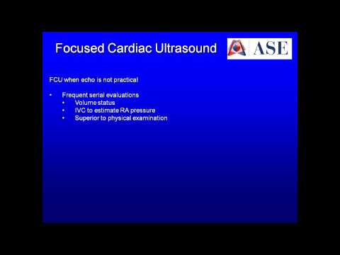 • Focused Cardiac Ultrasound: Recommendations from the American Society of Echocardiography