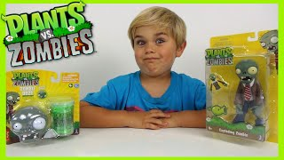 Plants vs Zombies - Exploding Zombie Figure and OOZE Head Toy!