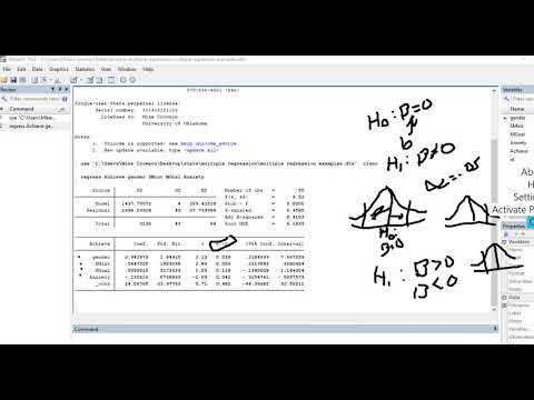 Multiple regression using STATA video 1