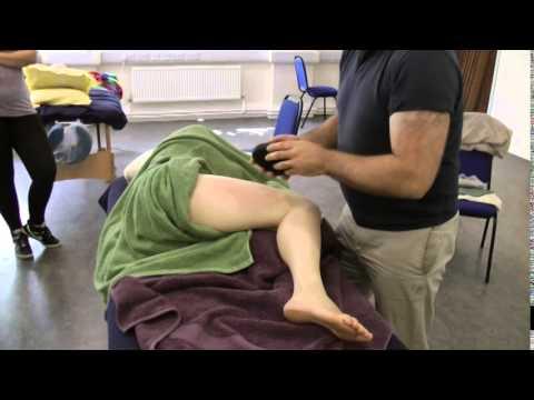 Hot Stone Massage  Side Lying Lower Bod
