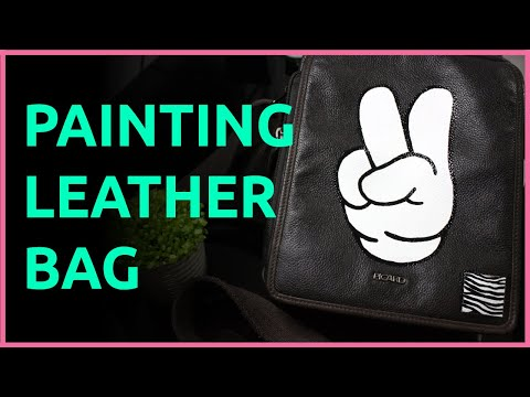 How to Paint a Leather Bag (VICTORY SIGN)