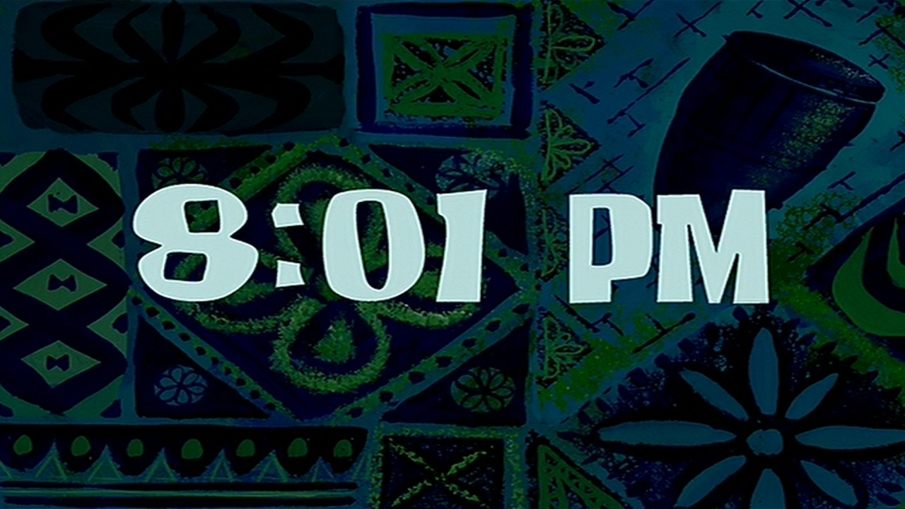 8 01 Pm Spongebob Time Card 26 Youtube