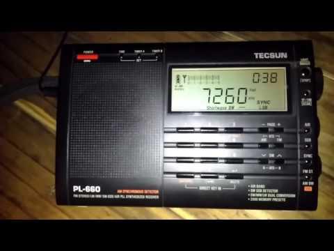 Radio Vanuatu en 7260 KHZ desde Mendoza, (ARG) Tecsun PL-660