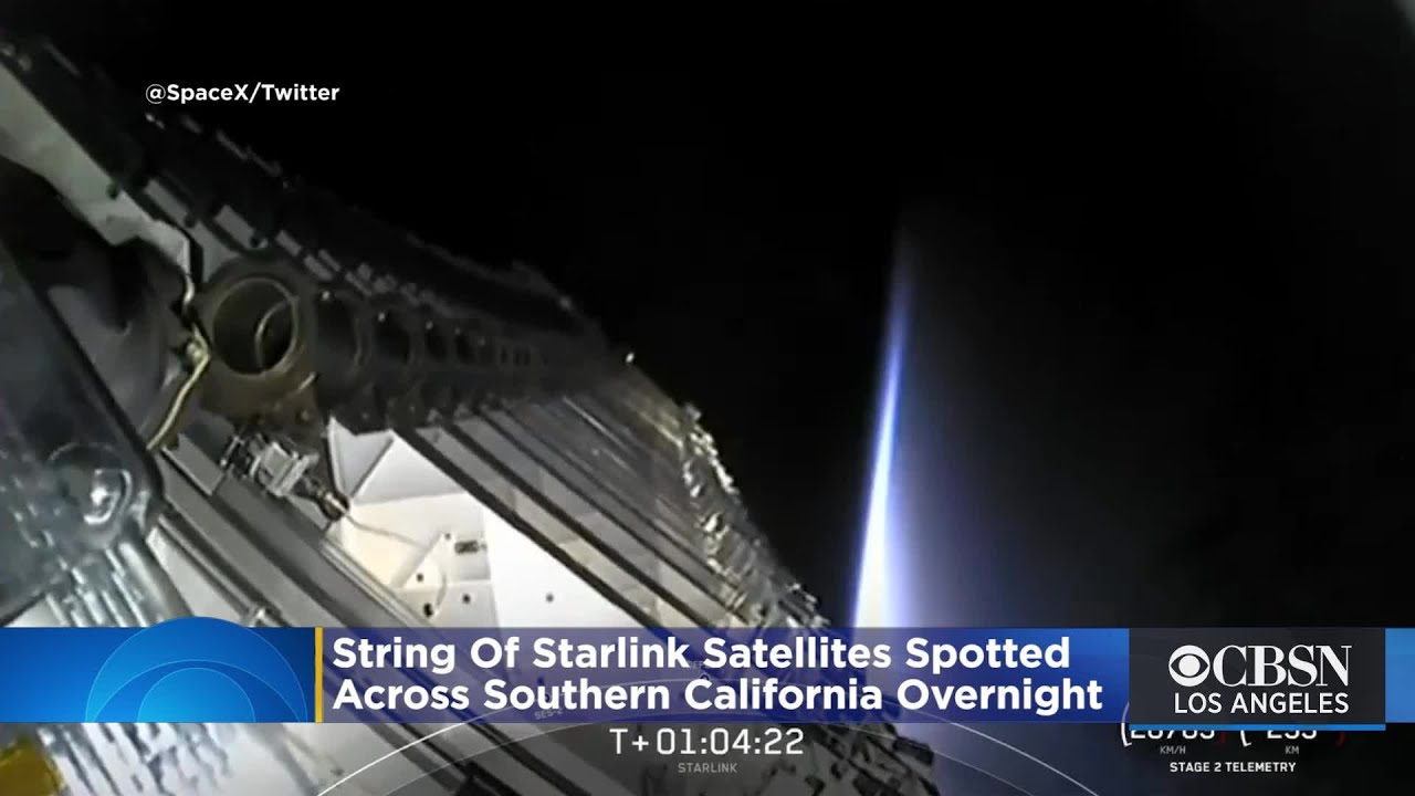 String Of Starlink Satellites Spotted Across Southern California ...