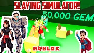 50,000 GEMS? CRAZY EXPENSIVE | Roblox Slaying Simulator