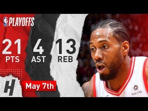 2efe78a2d0e Kawhi Leonard Full Game 5 Highlights Raptors vs 76ers 2019 NBA Playoffs -  21 Pts