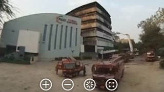 360 degree video of fire engines at National Museum Of Natural History