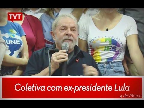 Coletiva com ex-presidente Lula - 4 de Março