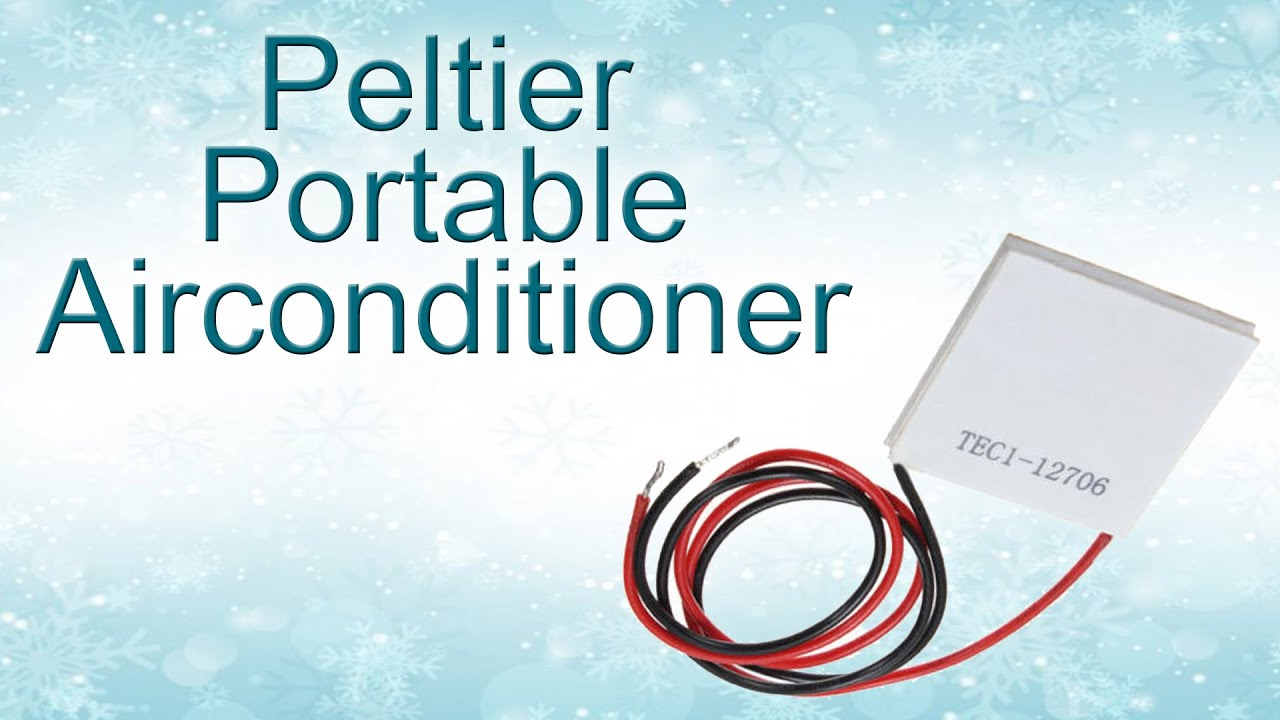 Peltier Air Conditioner Diy No Ice Cubes Youtube