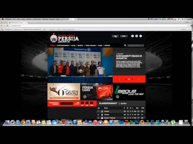 Cara Register di Website Persija. #GuePersija.