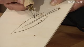Jetzt wird`s brenzlig: Holzobjekte fein dekorieren