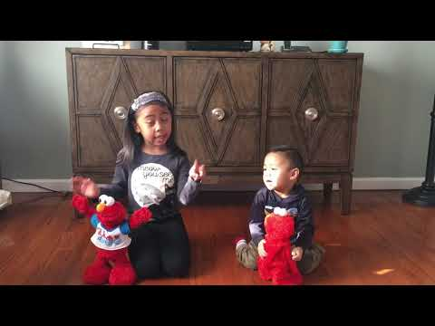 Abby, Ethan And Elmo (Fisher Price Tickle Me Elmo And YMCA ELMO)