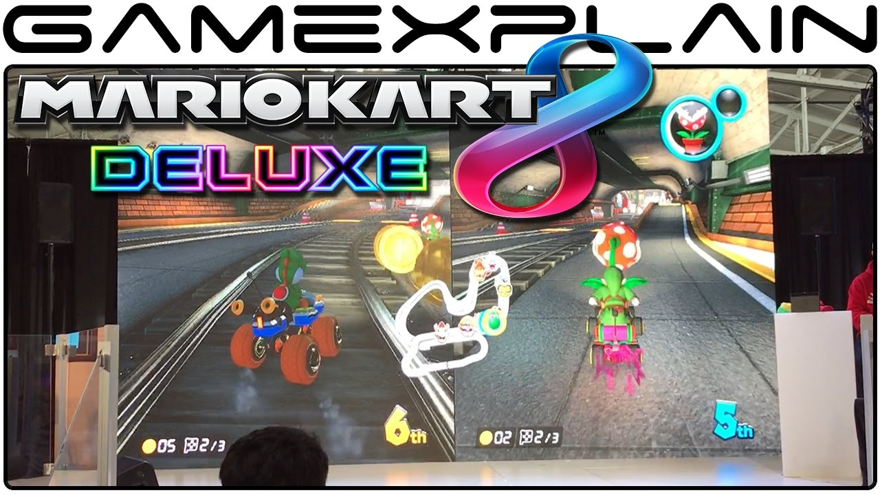 Mario Kart 8 Deluxe Multiplayer Race Nintendo Switch Preview Tour