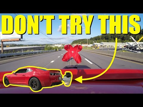 Thumbnail: Pulling A Parachute On The Highway At 150mph!! **Bad Idea**