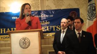 NYC Council Speaker Melissa Mark Viverito Speech At Councilman Deutsch Inauguration