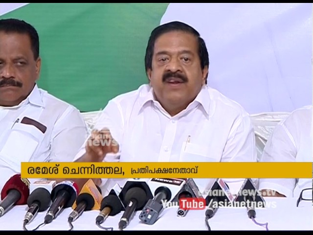 Ramesh Chennithala demands Pinarayi Vijayan should visit Jishnu Pranoy's mother
