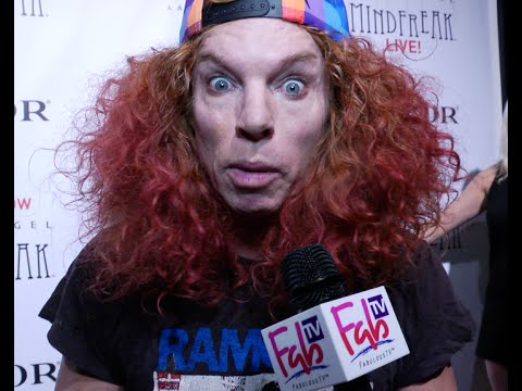 Carrot Top at Criss Angel's premiere of  Mindfreak Live!  at the Luxor Hotel with Fabulous TV