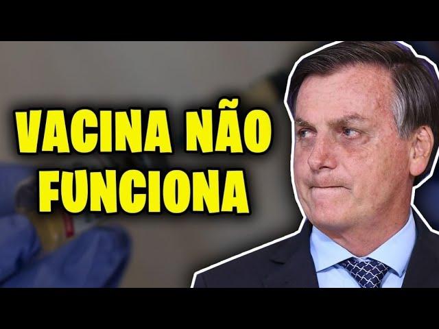 CRIMINOSO!! BOLSONARO DIZ QUE VACINA NÃO FUNCIONA!!