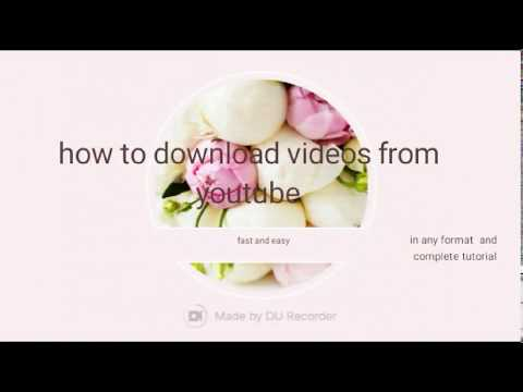 Downloading  youtube video's fast free easy