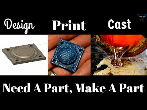 Designing, 3d Printing and Metal Casting a Replacement Part for a Carburetor
