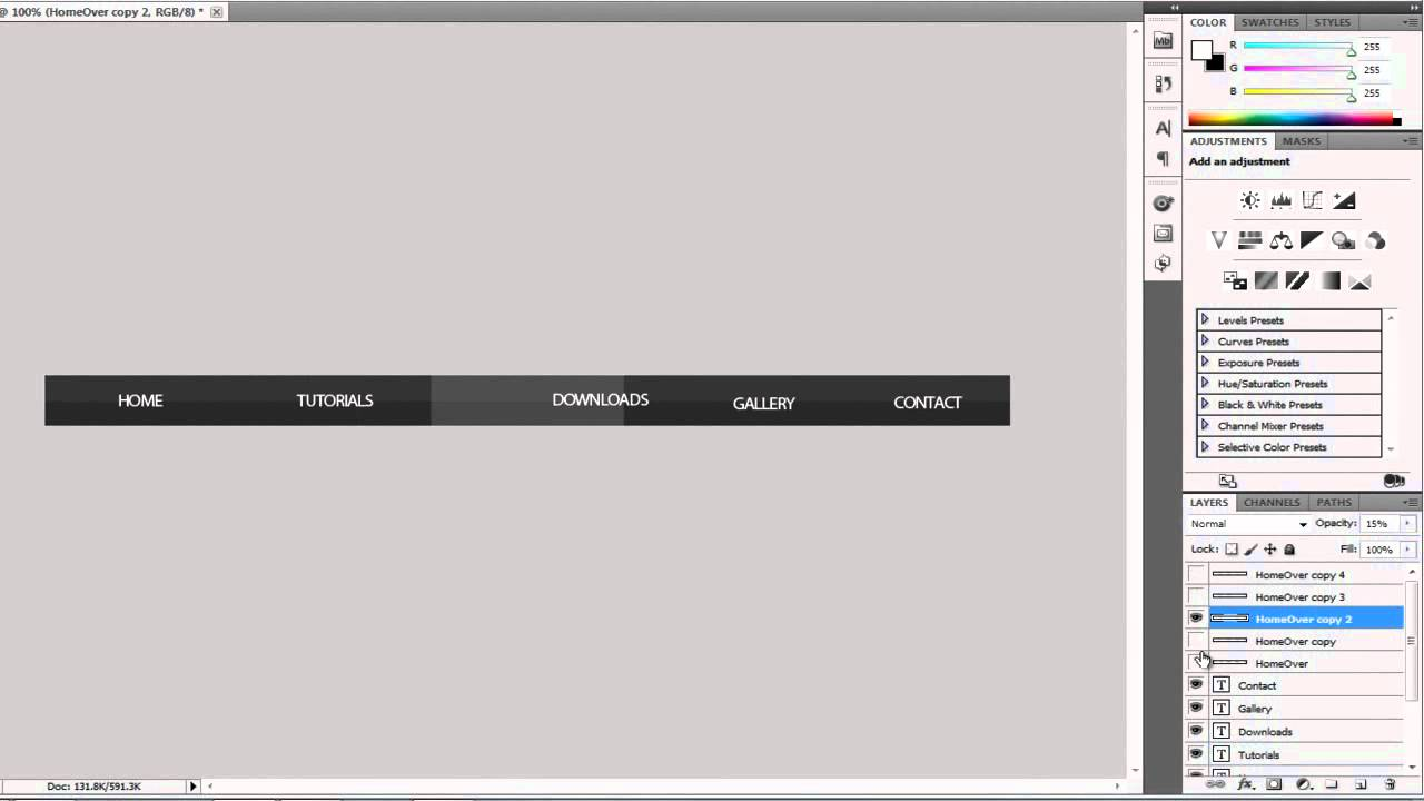 how to create a website with photoshop cs5