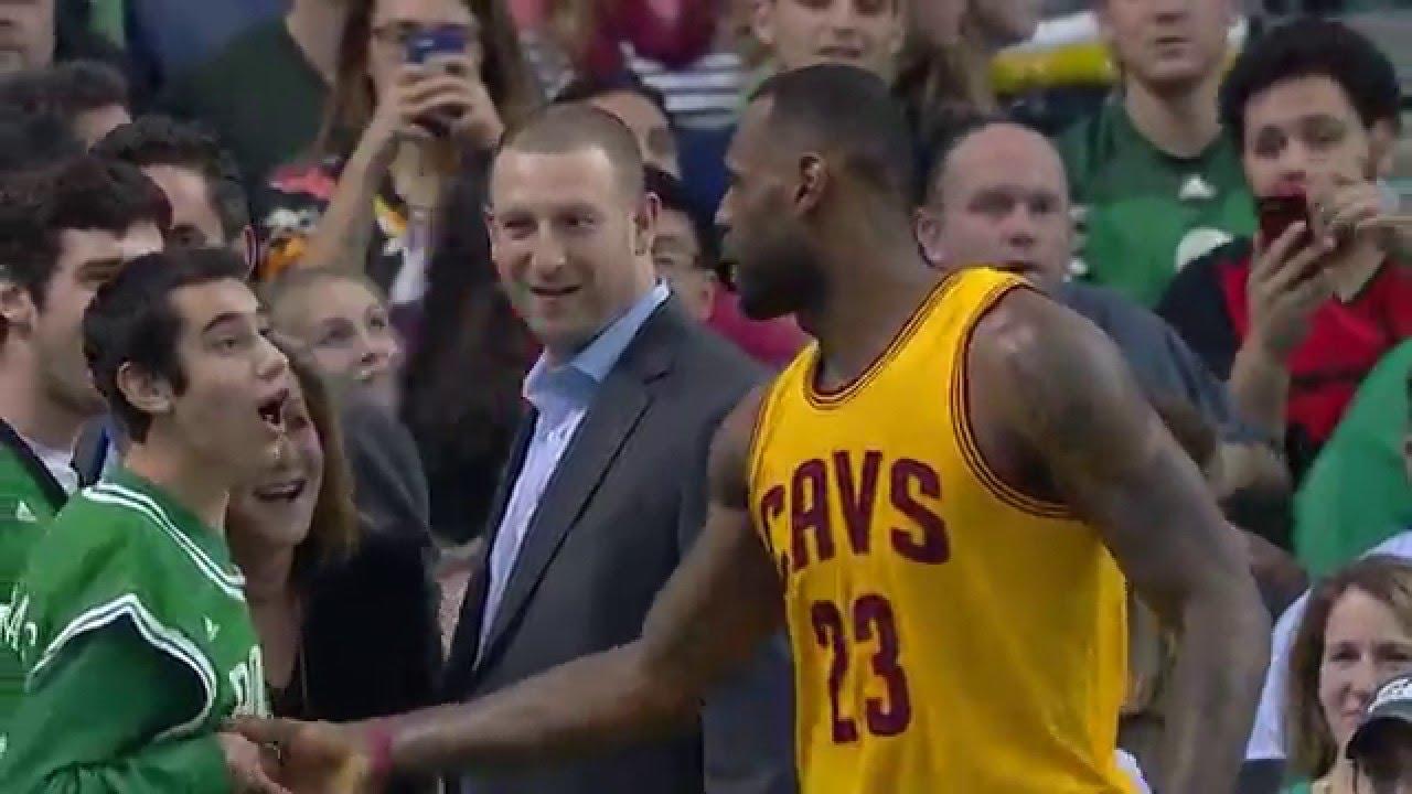 0f3e205f LeBron James Congratulates Special Olympian at Celtics Game - YouTube