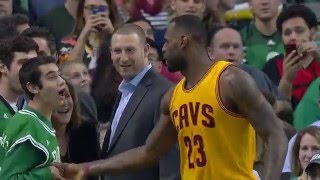 LeBron James Congratulates Special Olympian at Celtics Game