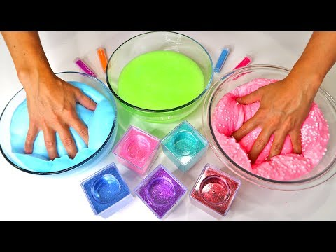 Thumbnail: How to Make Crunchy Fluffy Slime Simple DIY Color Glitter Slime Showcase Best Slime Recipe 2017