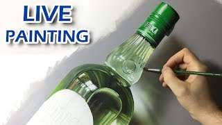 Painting Live - Green Bottle - 6th