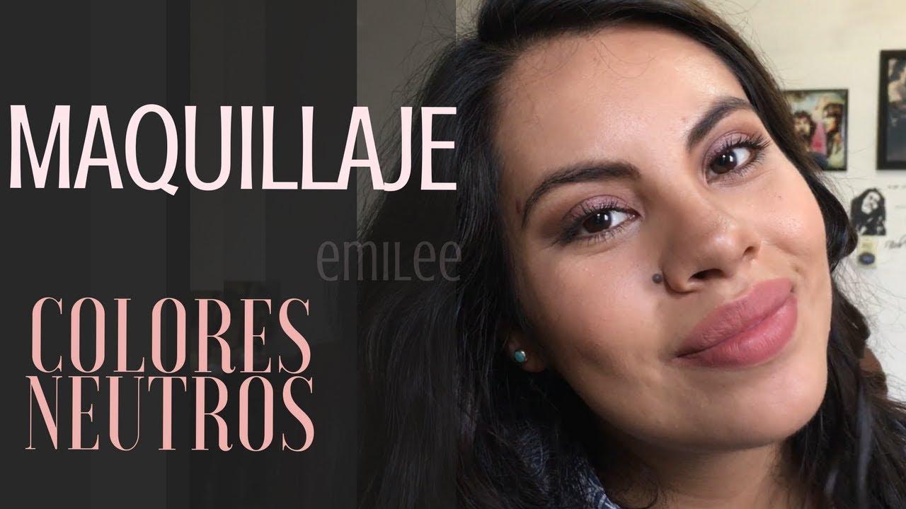 Maquillaje con colores neutros - EO033