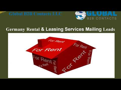 Germany Rental & Leasing Services Mailing Leads, http://globalb2bcontacts.com