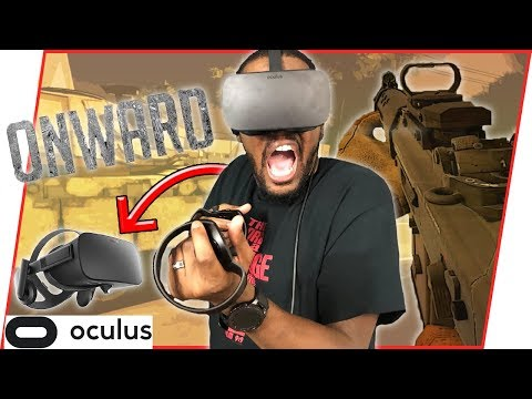 VIRTUAL REALITY SHOOTER! THIS IS SO REAL I THOUGHT I ACTUALLY GOT SHOT! - Onward Oculus Gameplay  