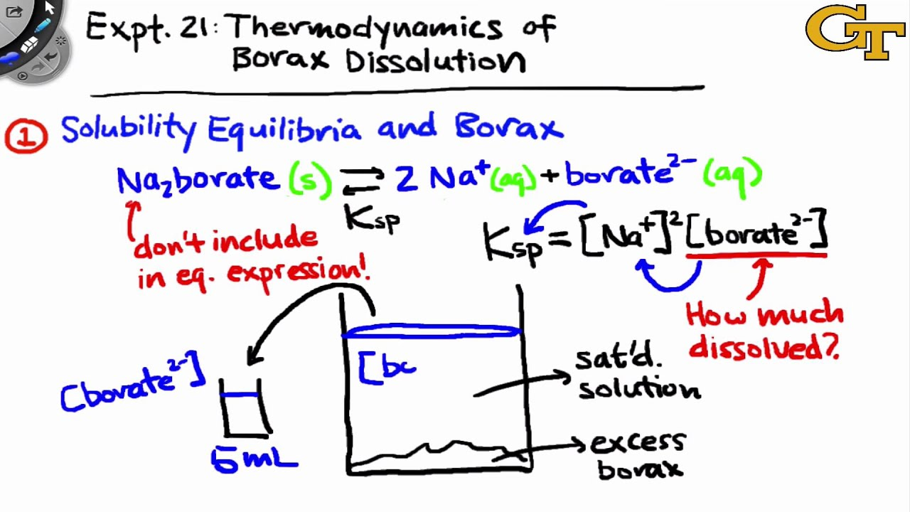 Thermodynamics of Borax Dissolution | Intro & Theory