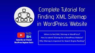 #XML_Sitemap | #WordPress_Beginner_Tutorial | Find #WordPress #Sitemap Complete Tutorial in English