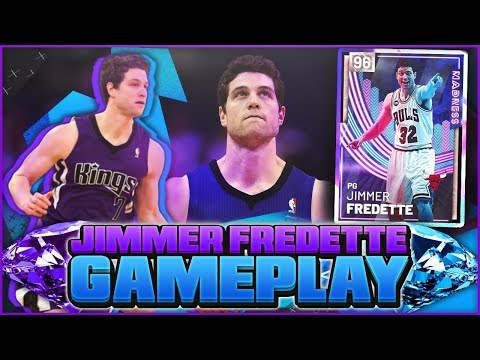 PINK DIAMOND JIMMER FREDETTE GAMEPLAY!! HE HAS THE ULTIMATE LIMITLESS RANGE! NBA 2K19 MYTEAM