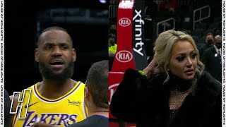 LeBron James Gets Heckled By a Fan - Lakers vs Hawks | February 1, 2020-21 NBA Season