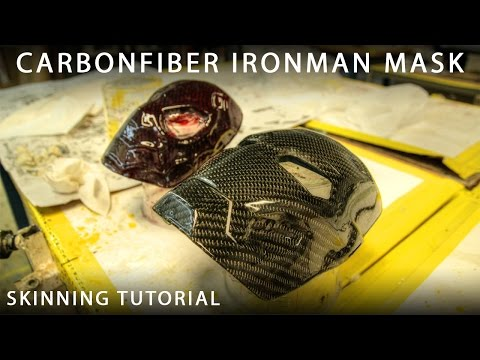 Carbonfiber Skinning or Wrapping Tutorial - Ironman & Spiderman Mask