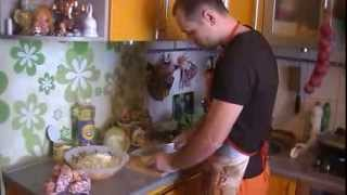 Рецепт Весеннего салата + омлет часть 1